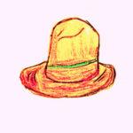 クラウンの高いパナマ帽のイラスト