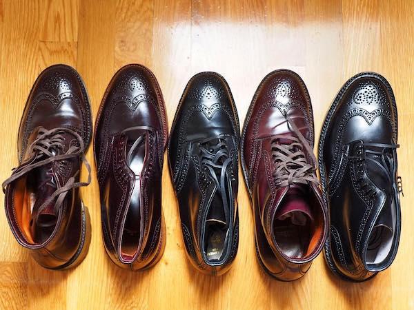 Wingtip boots line